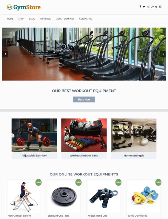 gym fitness wordpress themes store