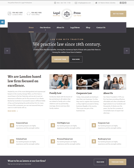 legalpress wordpress themes lawyers attorneys legal