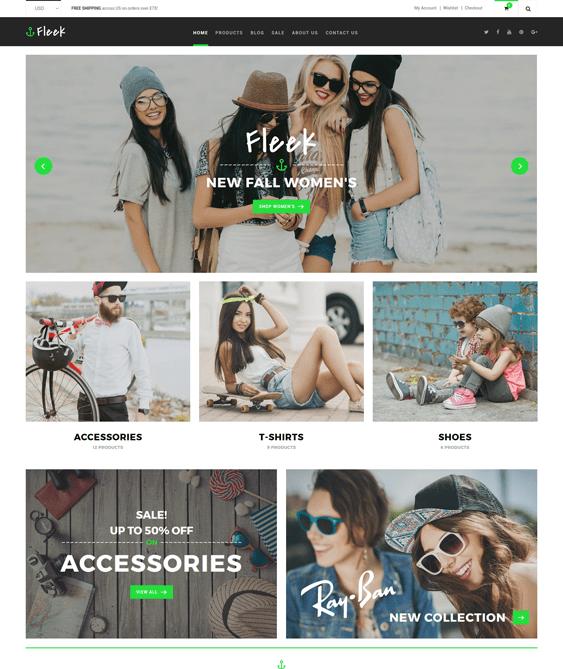fleek clean shopify themes