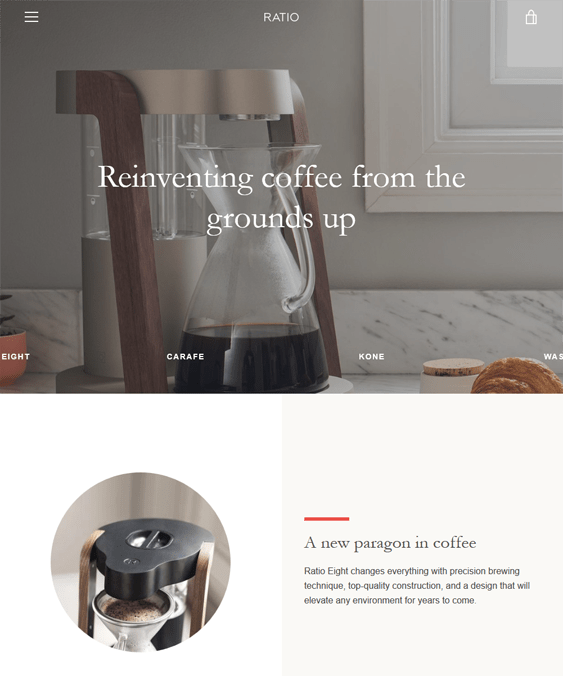 narrative shopify themes food drink online stores