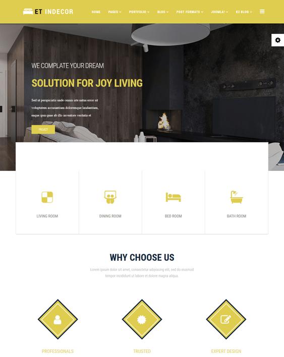 et indecor interior design joomla templates