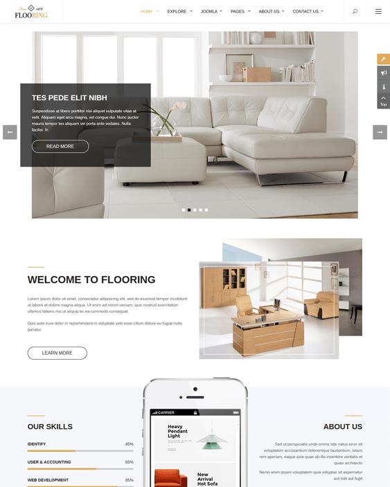 flooring interior design joomla templates