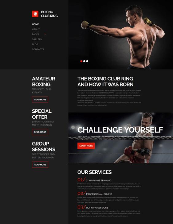 boxing-responsive- gym fitness joomla templates