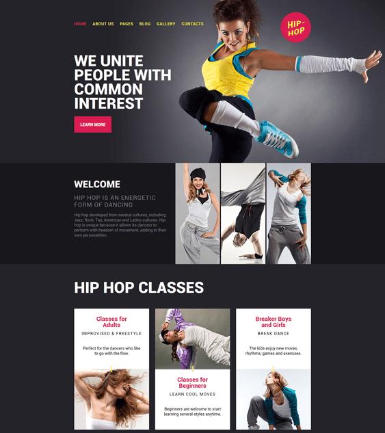 hip-hop-dance-studio-responsive- gym fitness joomla templates