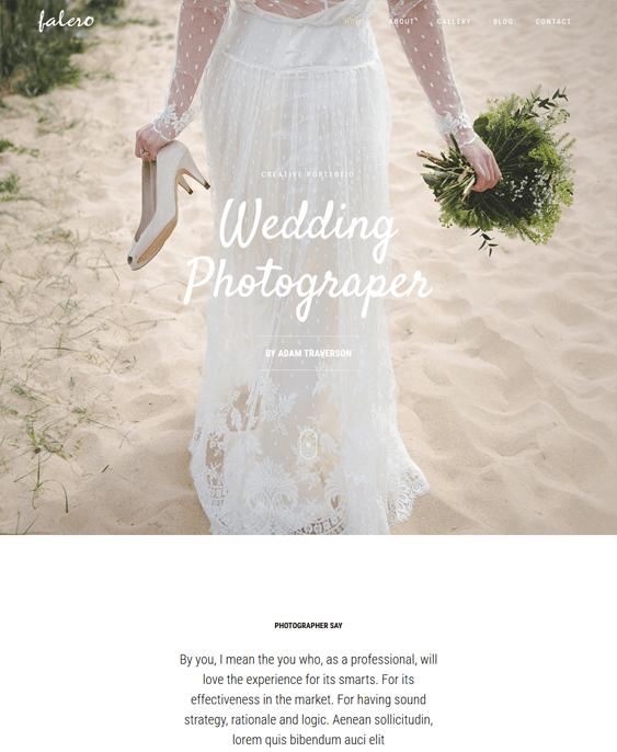 falero wedding wordpress themes