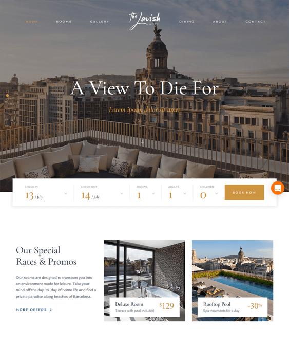 haven hotel wordpress themes