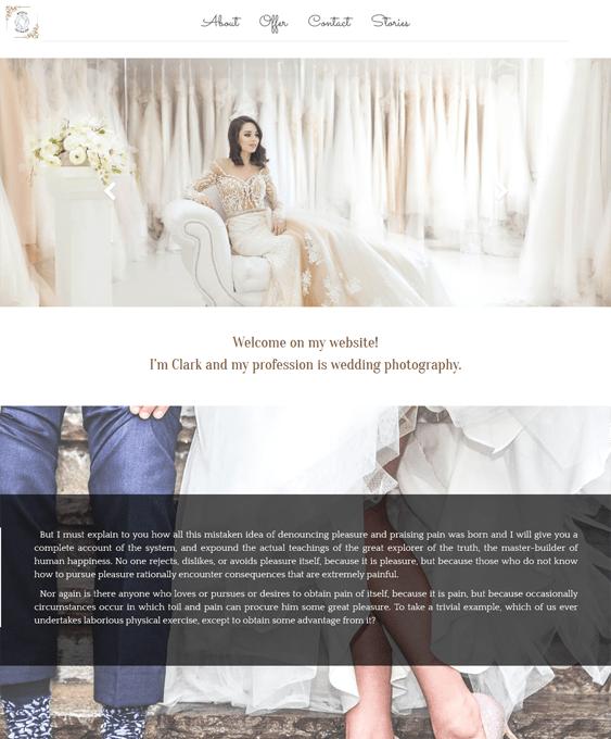 white wedding wordpress themes