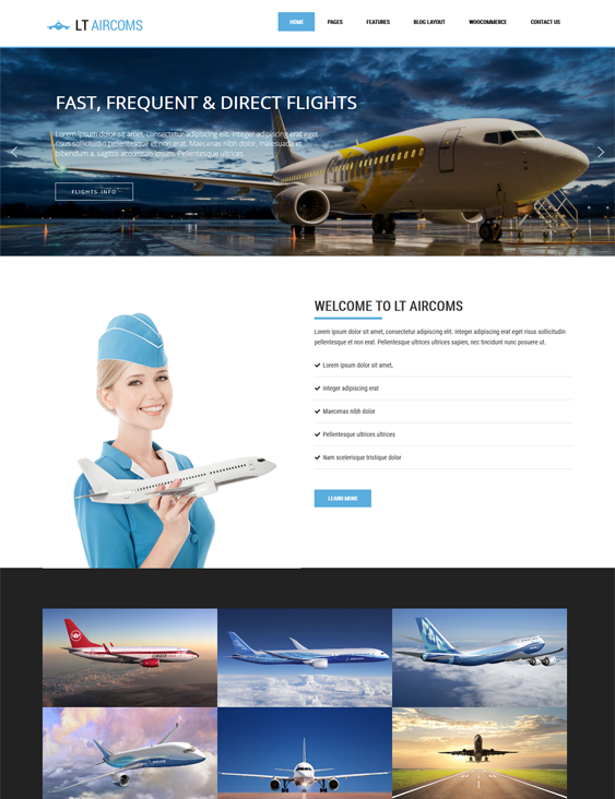 lt aircoms transportation--logistics-wordpress-theme