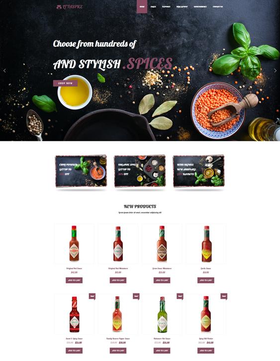 lt taspice food drink wordpress themes