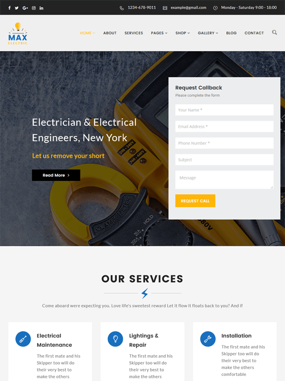 max contractor construction companies wordpress themes