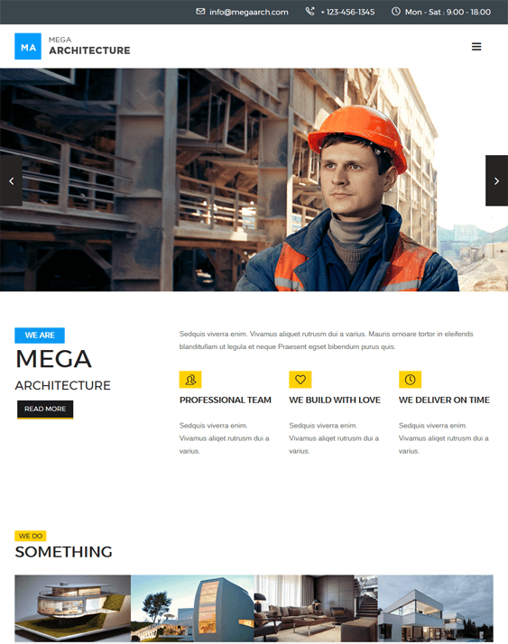 mega architecture contractor construction companies wordpress themes