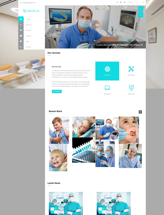 wisey medical wordpress themes doctors clinics feature
