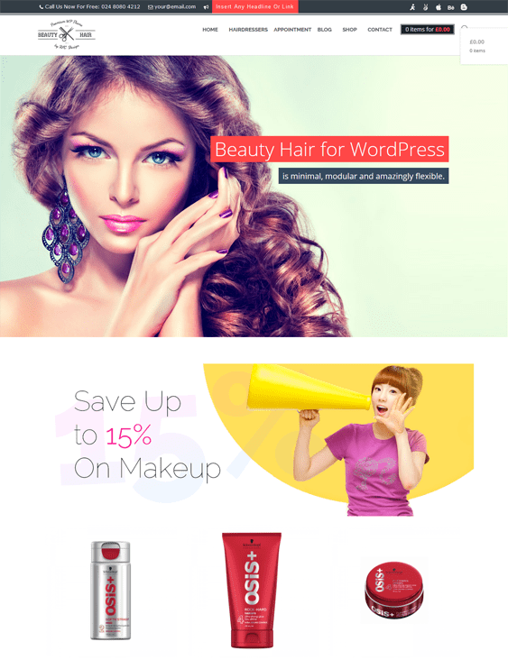 beauty salon spa wordpress themes