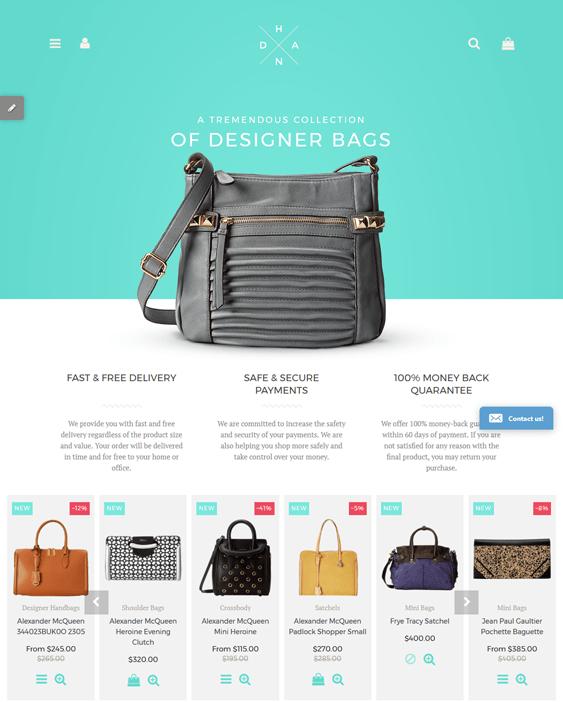 handbags purses shopify themes