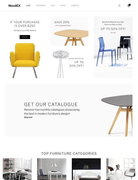 woodiex furniture store wordpress themes