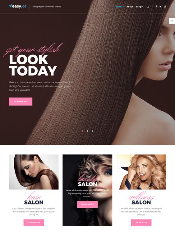 easyjet beauty salon spa wordpress themes