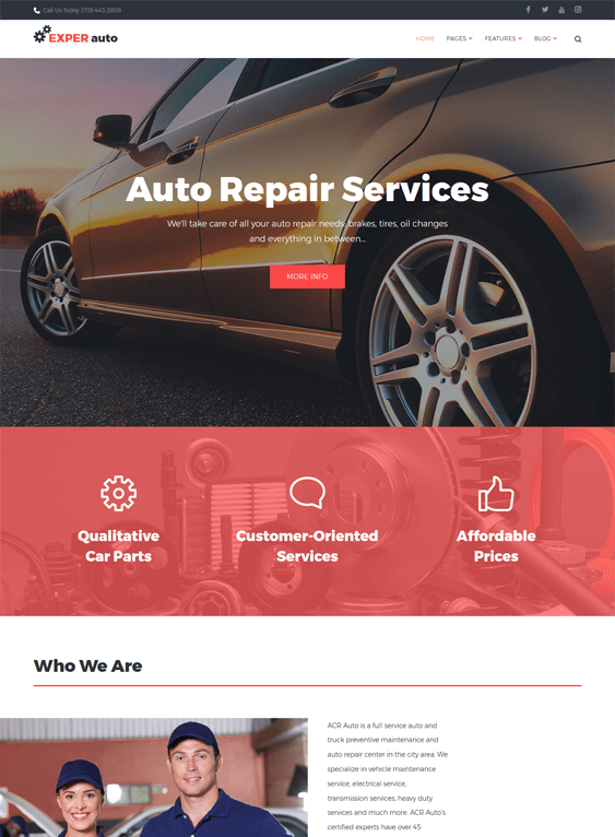 experauto car vehicle automotive wordpress themes