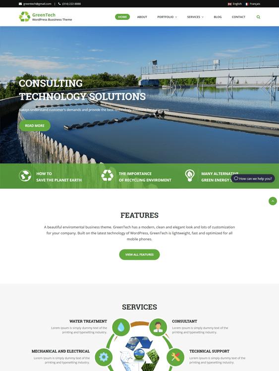 greentech green organic ecofriendly wordpress themes