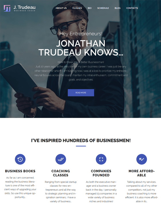 j trudeau life coach wordpress themes