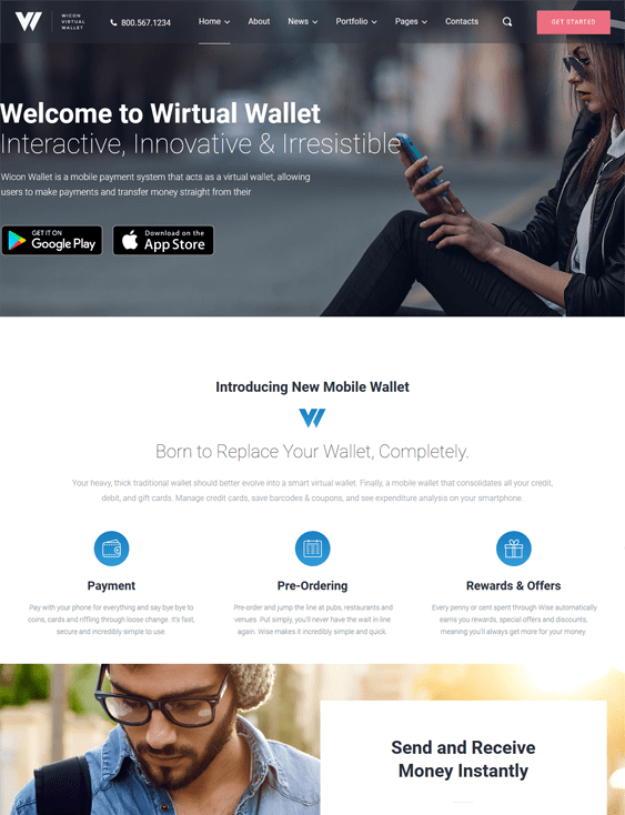 wicon themes promoting apps
