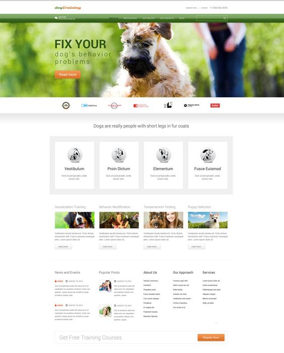 Dog Responsive pets vets wordpress theme