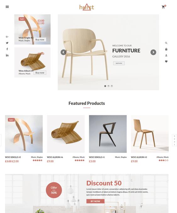 hurst furniture wordpress themes