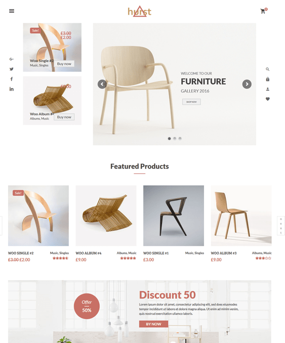 Hurst Furniture Wordpress Themes