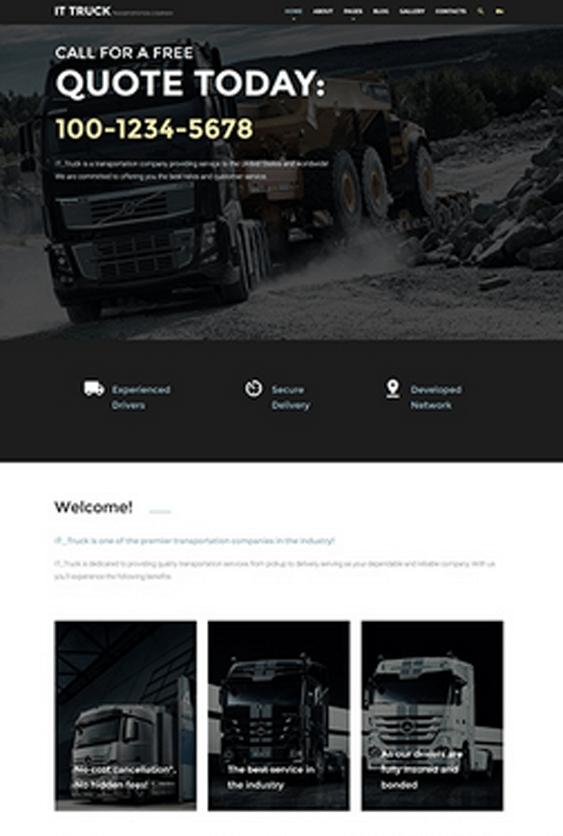 it truck transportation joomla templates