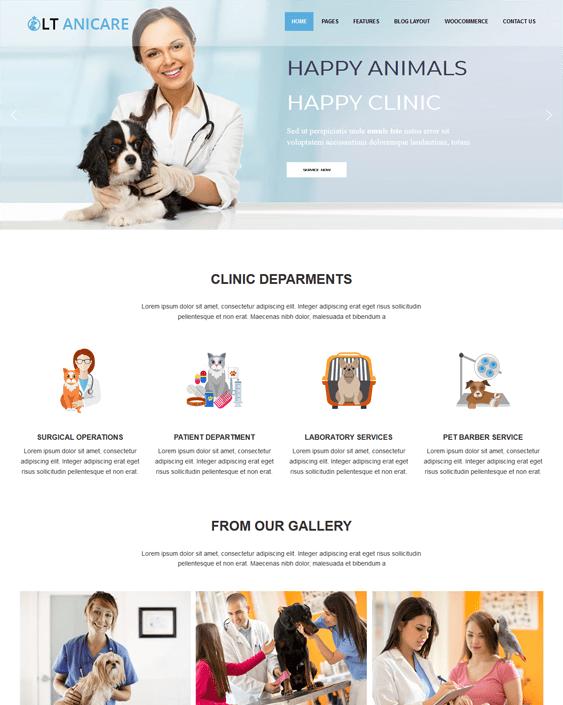lt anicare pets vets wordpress theme