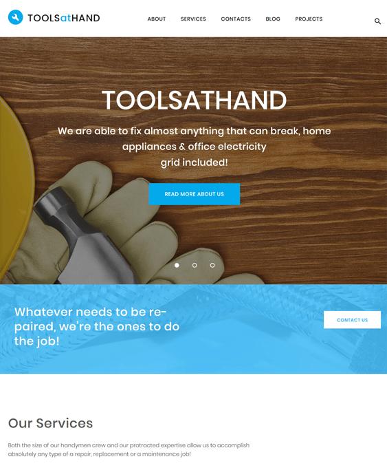tools at hand handyman wordpress themes