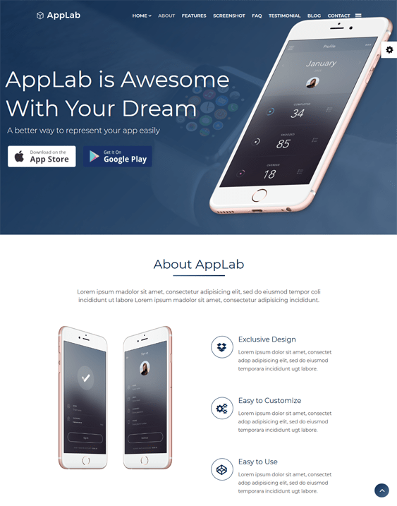 applab joomla templates promoting iphone android apps