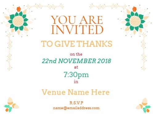 Thanksgiving Party Invitations Maker by Design Wizard