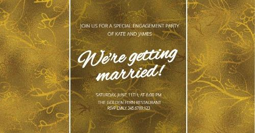 Engagement Announcements and Party Invitation Templates - engagement party invitations free