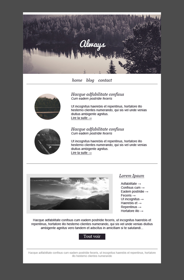 Free email templates - Download design Always