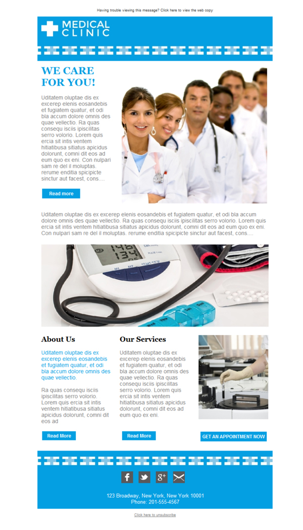 Free email templates - Download design Doctors Clinic Service - Medical Newsletter Templates Free