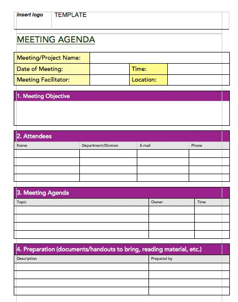 5+ Best Meeting Minutes Templates - Templatesvip - meetings template
