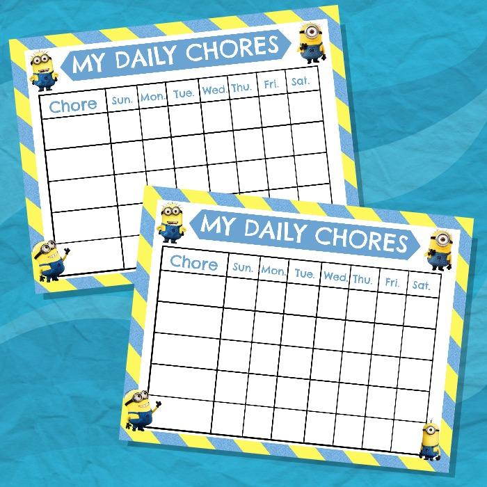 3+ Top Chore Chart Templates - Templatesvip