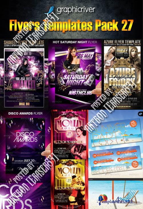 GraphicRiver Flyers Templates Pack 27 » Templates4share - Free