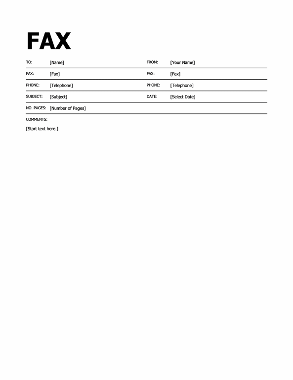 Fax Cover Template Microsoft Word – Fax Cover Sheet for Word