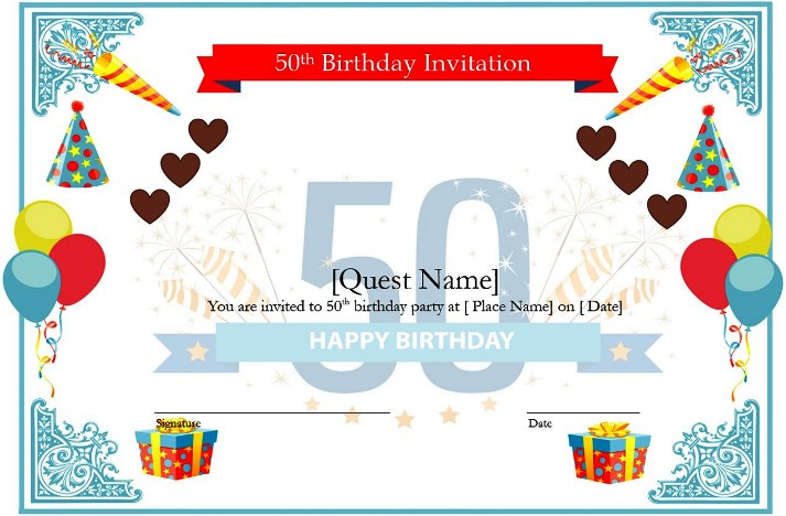 Download Lovely 50th Birthday Gift Ideas For Wife Template For Ms