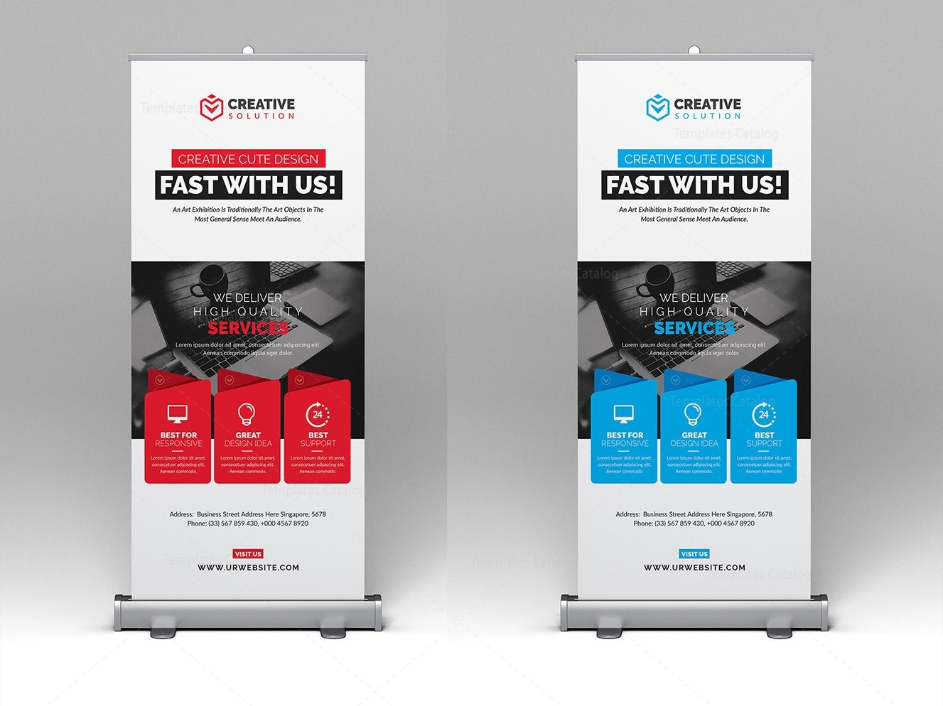 Rollup Stylish Rollup Banner Template 000345
