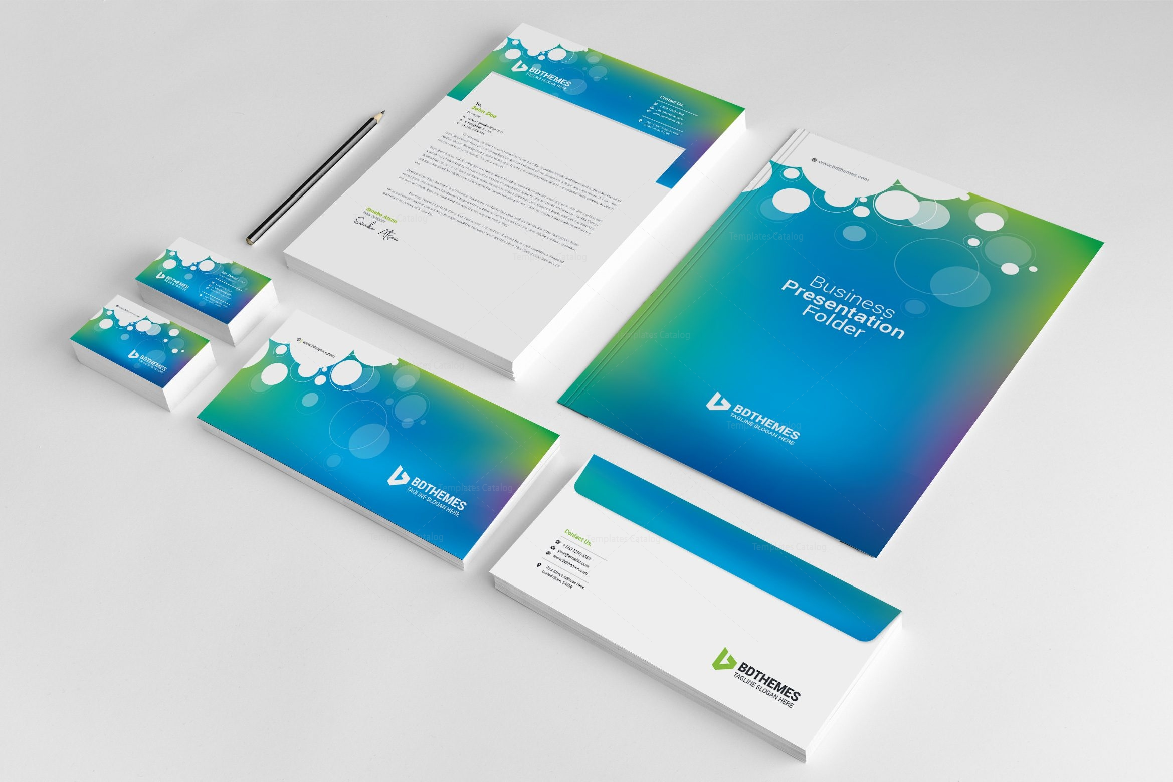 Corporate Graphic Design Commercial Corporate Identity Pack Design Template 002297