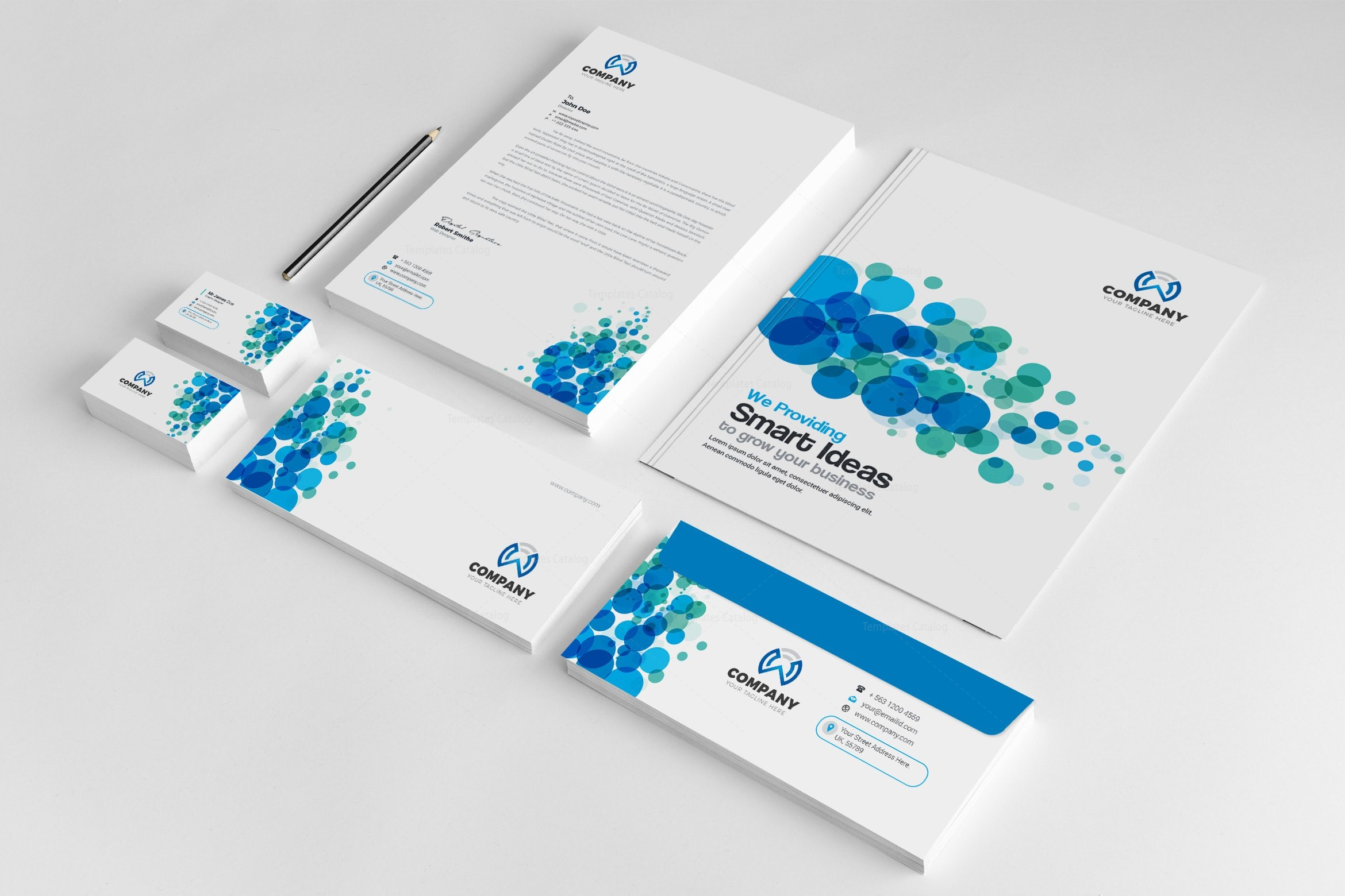Corporate Graphic Design Dots Corporate Identity Pack Design Template 002201