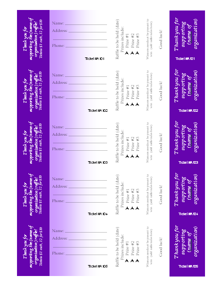 avery raffle tickets template