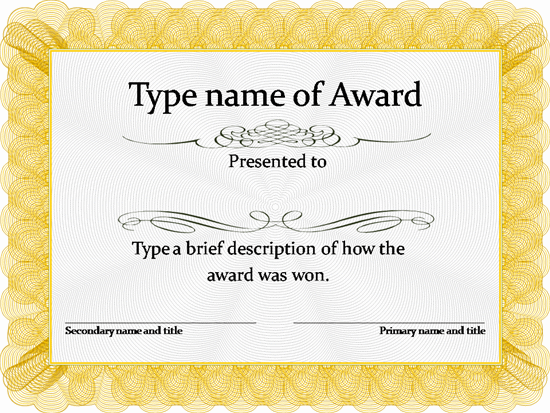 Certificate Templates Free – Certification Template Word