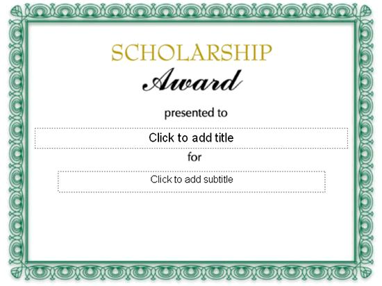 Doc550425 Award Templates Free Word Award Certificate – Award Templates Word