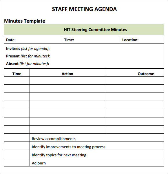 New Printable Agenda templates Templates and Samples - blank meeting agenda template