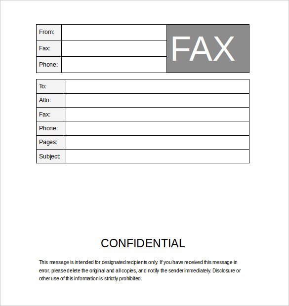 12+ Fax Cover Sheet Templates - Free Word PDF Samples - Template Section - fax cover sheet download