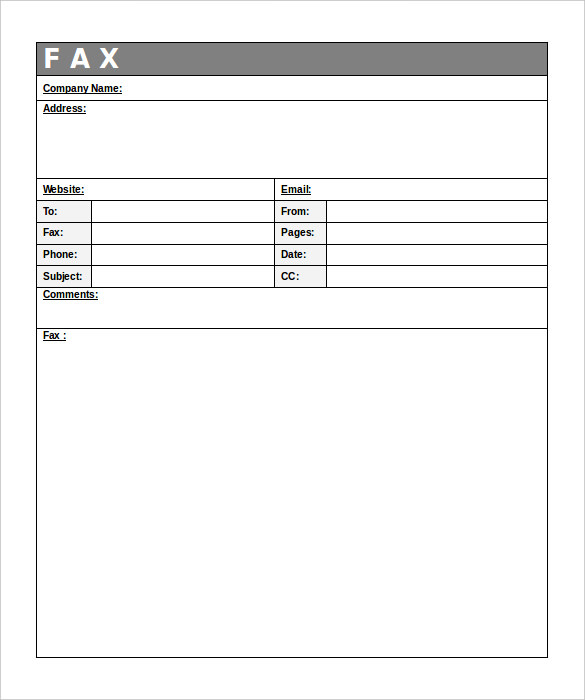 12+ Fax Cover Sheet Templates - Free Word PDF Samples - Template Section