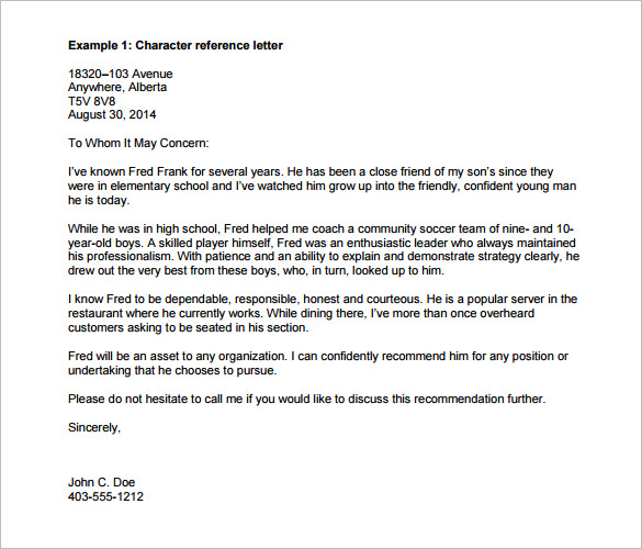 25+ Recommendation Letter Templates - Free Sample, Format - Template
